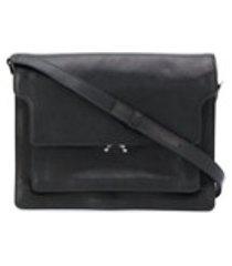 marni bolsa tiracolo de couro - preto