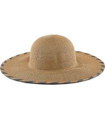 wide rim straw beach hat