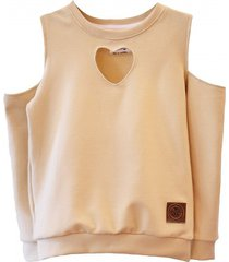 bluza heart sand by m & l