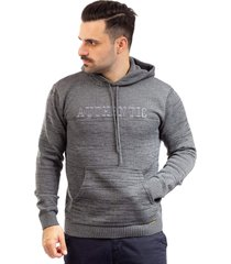 blusã£o de malha com bolso sumarã© 10427 cinza - cinza - masculino - acrãlico - dafiti