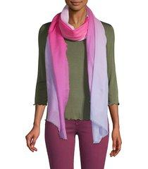 saachi women's ombre wool scarf - pink purple
