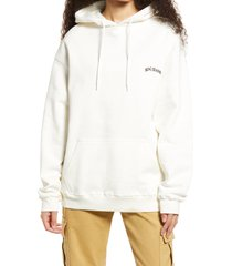 bdg urban outfitters longline hoodie, size large in ecru at nordstrom