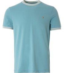 farah texas t-shirt | reef green | f4ksb075-337