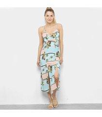 vestido longo tricats midi tropical