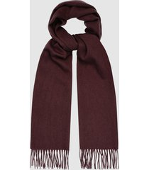 reiss ashton - lambswool cashmere blend scarf in bordeaux, mens