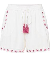shorts in tessuto con ricami (bianco) - rainbow