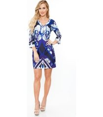 white mark women's viola dress