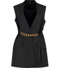 givenchy chain detail wool double-breasted vest
