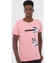 camiseta rock&soda estampada rosa - rosa - masculino - algodã£o - dafiti