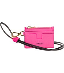 tom ford leather cardholder with strap