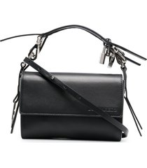 dsquared2 padlock-charm crossbody bag - black