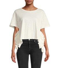 for the republic women's ruffle-trim top - soft white - size m