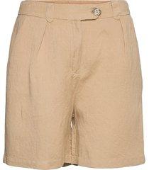 makira linen shorts shorts chino shorts beige minus