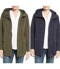 hooded swing rain jacket, size m - l $180 levi's