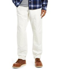 carhartt work in progress ruck organic cotton canvas pants, size 38 x 32 in wax rinsed at nordstrom