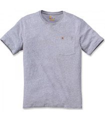 carhartt t-shirt men southern s/s pocket heather grey-l