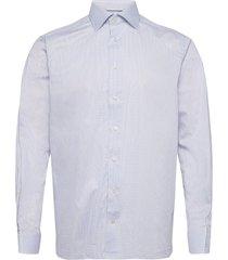 contemporary fit purple lightweight twill shirt skjorta business blå eton
