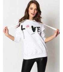 bluza love & rose white