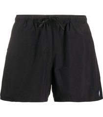 marcelo burlon county of milan drawstring swim shorts - black