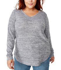 cotton on trendy plus size karly long sleeve top