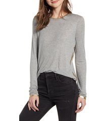 women's zadig & voltaire willy gold foil tee, size x-small - grey