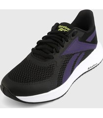 tenis running negro-morado-blanco reebok energen run