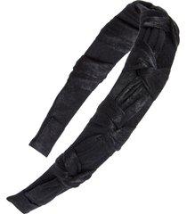 tasha fabric knot headband in black at nordstrom