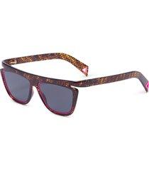 acetate frame monogram contrast rim cat eye sunglasses