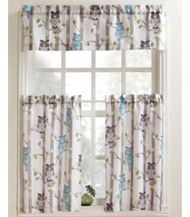 """hoot 56"""" x 36"""" pair of tier curtains"""