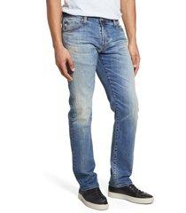 men's ag graduate slim straight leg jeans, size 42 x r - blue