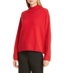 women's mansur gavriel wool & cashmere mock neck sweater, size medium - orange