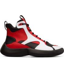 camper lab abs, sneaker uomo, nero/rosso /bianco, misura 44 (eu), k300297-002