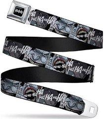 batman's joker laughing c/u black/white - logo seatbelt belt adjustable waist