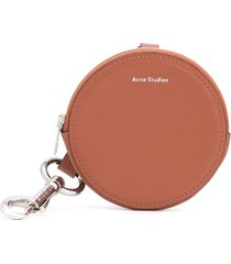 acne studios keychain coin pouch - brown