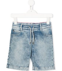 little marc jacobs loose-fit denim shorts - blue
