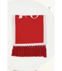 palm angels logo scarf
