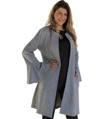 casaco dona popi sobretudo mescla