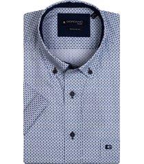 giordano heren overhemd met blauwe stippen button down regular fit