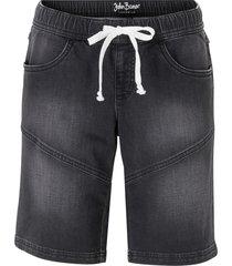 bermuda di jeans in felpa (nero) - john baner jeanswear