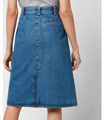 a.p.c. women's nevada denim skirt - blue - fr 40/uk 12