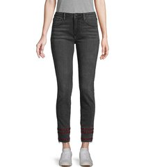driftwood women's striped-trim ankle jeans - washed black - size 24 (0)