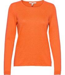 sweaters stickad tröja orange edc by esprit