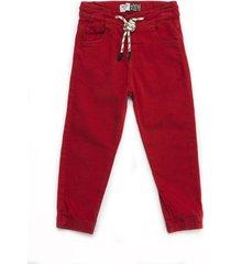 pantalón largo rojo offcorss