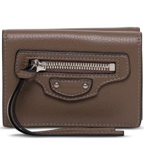 balenciaga neo classic brown leather wallet