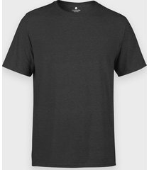 męska koszulka (bez nadruku, gładka) - grafitowa