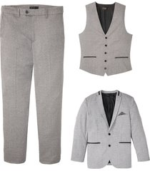 completo (3 pezzi) giacca, pantaloni, gilet (grigio) - bpc selection