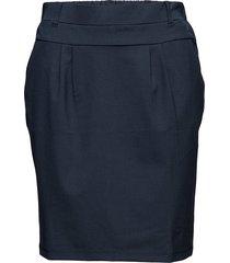jillian skirt knälång kjol blå kaffe