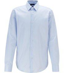 boss men's eliott regular-fit striped cotton shirt