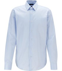 boss men's eliott regular-fit striped cotton shirt