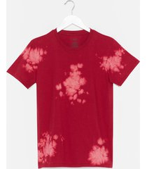womens feelin' groovy tie dye relaxed tee - red